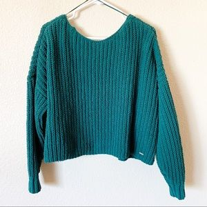 Hollister Large Knit Crop Top Sweater